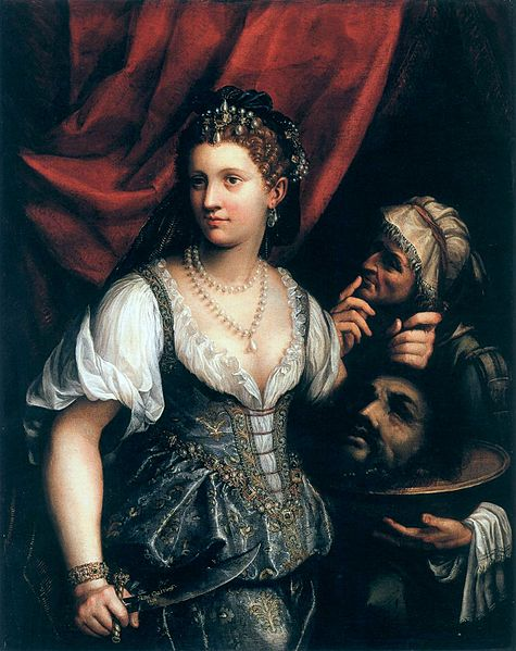 Fede Galizia, 'Judith with the Head of Holofernes' (possible self-portrait). 1596.