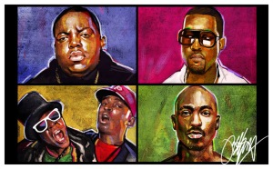 Painting by Kyle Lambert via http://kyle-lambert.deviantart.com/art/Hip-Hop-Paintings-119220045
